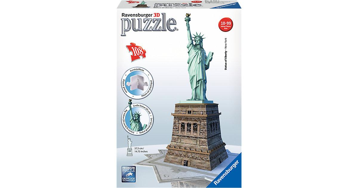 3-D Puzzle-Bauwerke Freiheitsstatue 108 Teile