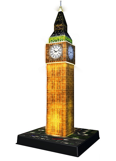 3 d puzzle bauwerke big ben bei nacht mit led beleuchtung ravensburger 216 teile mytoys. Black Bedroom Furniture Sets. Home Design Ideas