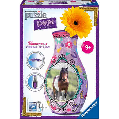 3-D Puzzle Girly Girl Edition Blumenvase Pferde