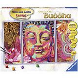 Malen nach Zahlen Serie Premium Goldener Buddha