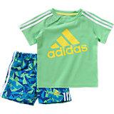 adidas Performance Baby Set: T-Shirt + Shorts für Jungen