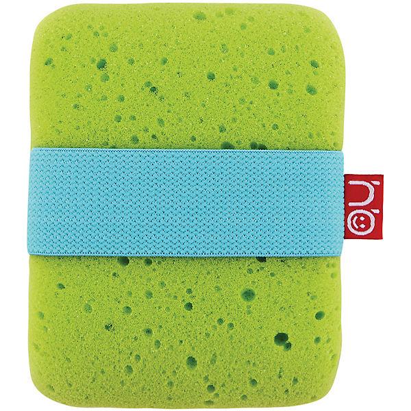 Мочалка с эластичным фиксатором Sponge, Happy Baby, зелёный