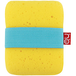 Мочалка с эластичным фиксатором Sponge, Happy Baby, жёлтый