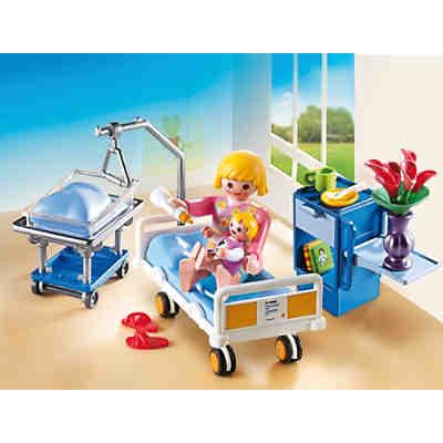 Playmobil 6660 krankenzimmer mit babybett playmobil city for La maison des bebes