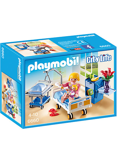 playmobil 6660 krankenzimmer mit babybett playmobil mytoys. Black Bedroom Furniture Sets. Home Design Ideas