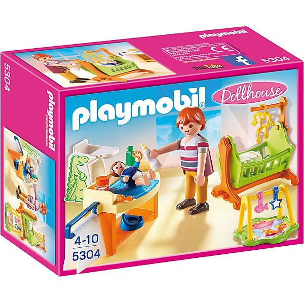 playmobil 5304 babyzimmer mit wiege playmobil dollhouse mytoys. Black Bedroom Furniture Sets. Home Design Ideas