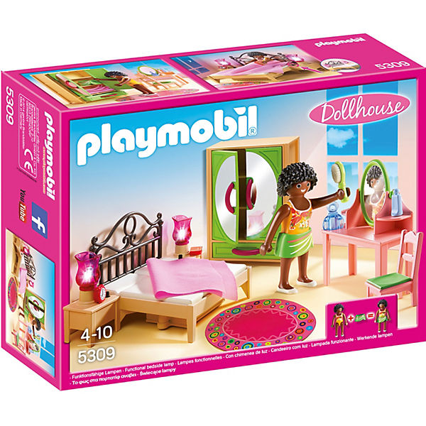 playmobil 5309 schlafzimmer mit schminktischchen playmobil dollhouse mytoys. Black Bedroom Furniture Sets. Home Design Ideas