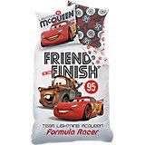 Kinderbettwäsche Cars Formula Racers, weiß, 135 x 200 cm