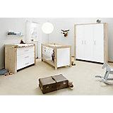Komplett Kinderzimmer  CANDEO (Kinderbett, Wickelkommode, Kleiderschrank 3-trg.), Eiche Dekor/weiß