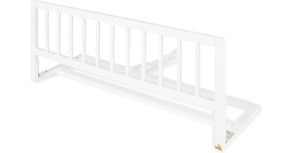 Bettschutzgitter, Buche massiv, weiß, Länge 90 cm