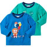 KIDIVIO Baby Langarmshirt Doppelpack für Jungen