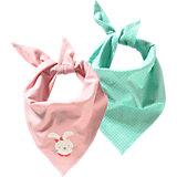 KIDIVIO Baby Dreieckstuch Doppelpack für Mädchen