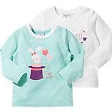 KIDIVIO Baby Langarmshirt Doppelpack für Mädchen