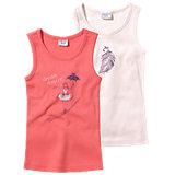 KIDIVIO Unterhemden Doppelpack für Mädchen