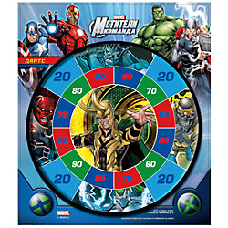 """Набор для игры в Дартс """"Мстители"""" (панель +2 мяча на липучке), Marvel Heroes"""