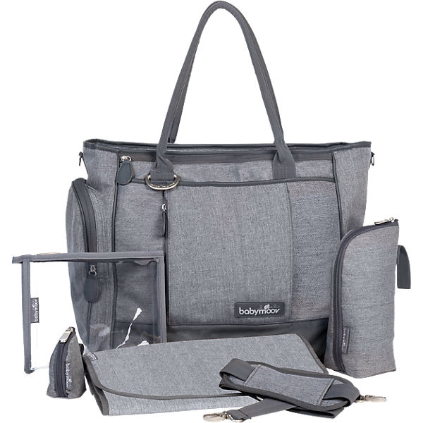 Wickeltasche Essential Bag, grau meliert
