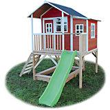 Spielhaus Loft Rotbraun