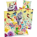 Wende- Kinderbettwäsche Disney Fairies und das Nimmerbiest, Renforcé,135 x 200 cm