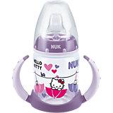 Trinklernflasche FIRST CHOICE, PP, 150 ml, Silikon- Trinktülle, Hello Kitty, violett