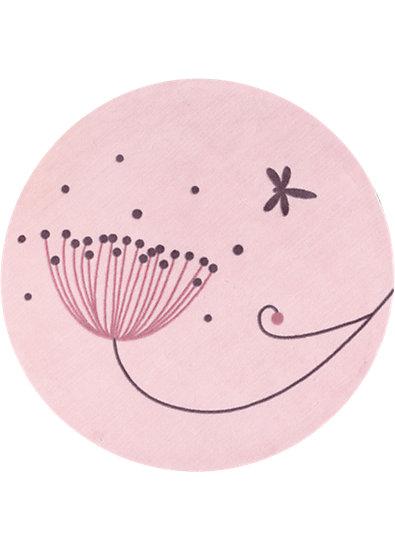 Teppich Meine schöne Blume, rund, 95 cm, candide myToys