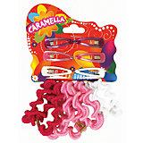 Набор для волос: 8 резинок и 6 заколок, CARAMELLA