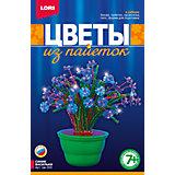 """Цветы из пайеток """"Синие васильки"""", LORI"""