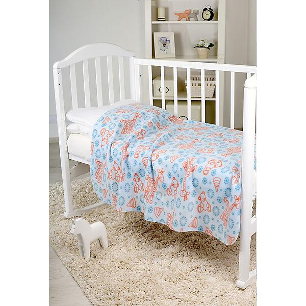 Плед-флисовый  2-х стор., Baby Nice, голубой