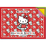 Цветной картон 20 листов, Hello Kitty