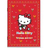 """Тетрадь для нот """"Hello Kitty"""" 18 листов"""
