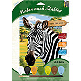 Malen nach Zahlen ab 8 Zebra