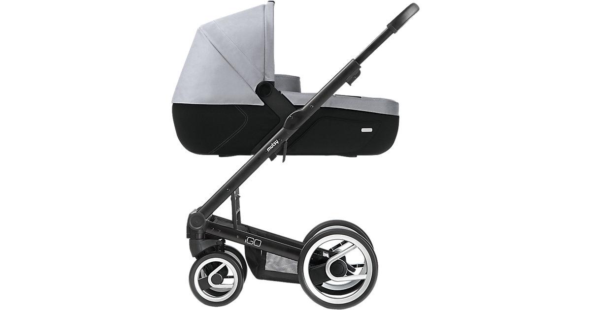 Kombi-Kinderwagen Igo, lite silver, Gestell black, 2015