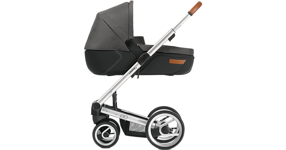 Kombi-Kinderwagen Igo, urban nomad dark grey, Gestell silver