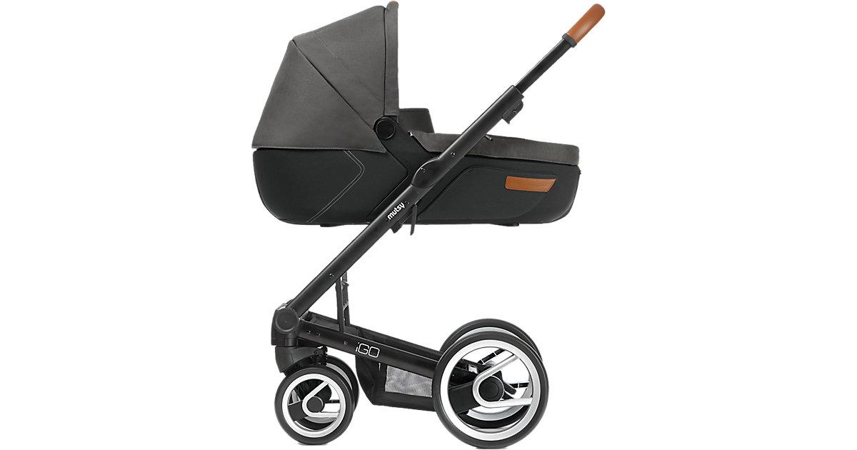 Kombi-Kinderwagen Igo, urban nomad dark grey, Gestell black