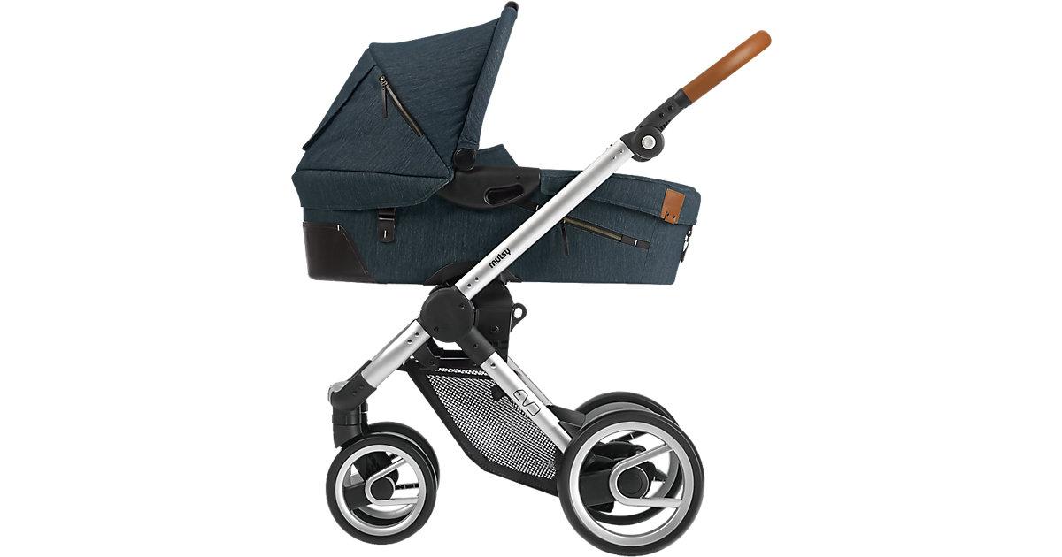 Kombi-Kinderwagen Evo, industrial blue, Gestell silver