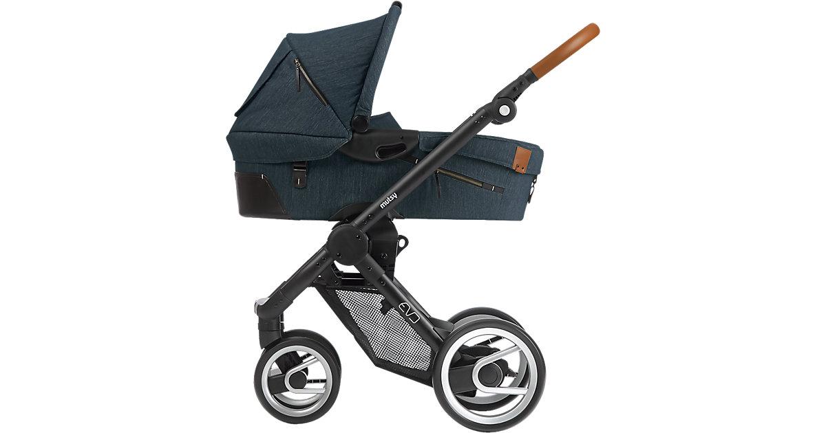 Kombi-Kinderwagen Evo, industrial blue, Gestell black