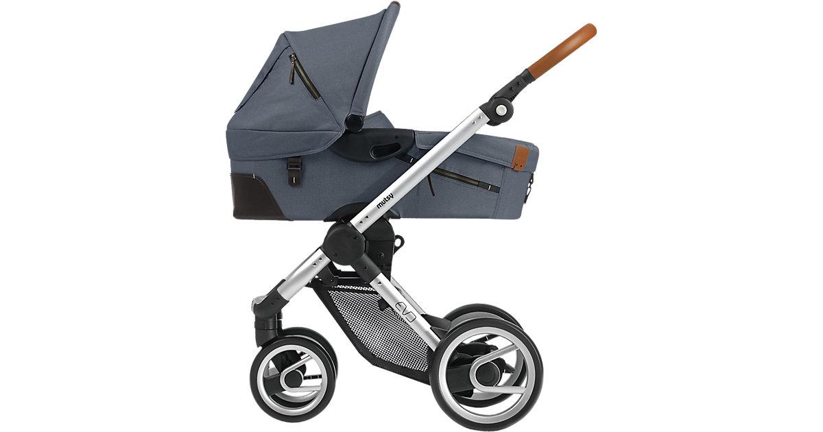 Kombi-Kinderwagen Evo, industrial grey, Gestell silver
