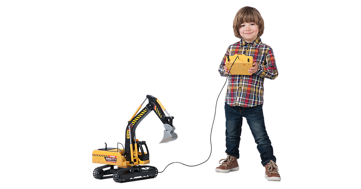 kabelgesteuerter Riesenbagger mit Licht & Sound...