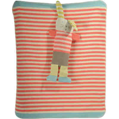 babydecke mit uv schutz baumwolle sterne rot 75 x 100 cm alvi mytoys. Black Bedroom Furniture Sets. Home Design Ideas