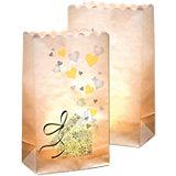 Lichtertüten aus Papier Motiv Geschenk, 10 Stück