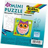Partypack Motiv-Puzzle Eule, 10 x 22 Teile