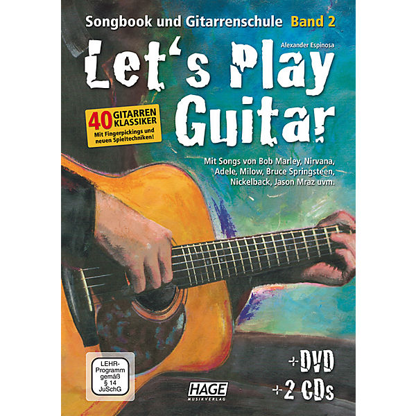 Let's Play Guitar, m. DVD+ 2 Audio-CDs