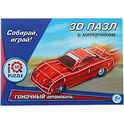 """3D пазл """"Красный гоночный автомобиль"""", инерционный, 58 деталей"""