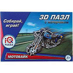 """3D пазл """"Мотобайк Wide G"""" с моторчиком, 62 детали"""