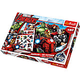 Puzzle 160 Teile inkl. Tattoos - The Avengers