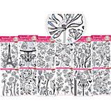 """Объемная металлизированная наклейка с голографией """"Цветы"""" 40х54 см (в ассортименте)"""