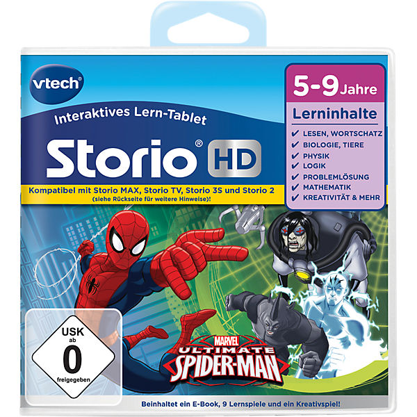 "Storio 2, 3S, Max & TV Storio HD Lernspiel ""Der ultimative Spiderman"""