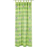 Vorhang Set Fußball inkl. Bügelband, je 245 x 140 cm (2 Schals)