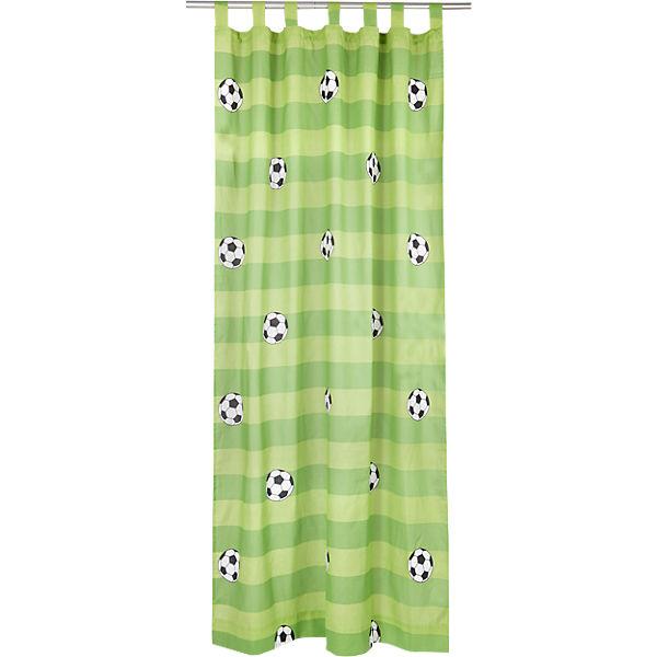 vorhang set fu ball inkl b gelband je 245 x 140 cm 2 schals mytoys. Black Bedroom Furniture Sets. Home Design Ideas