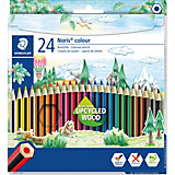 NORIS Club 6-Kant-Farbstifte, 24 Farben