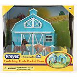 Набор из двух жеребят, с конюшней, Breyer